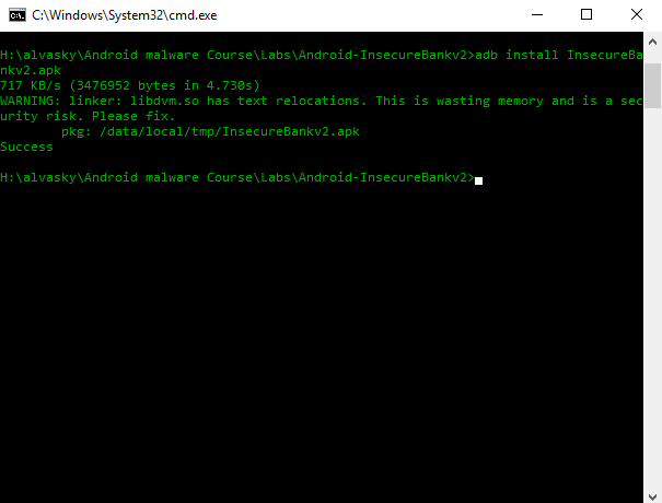 Android Penetration Testing Lab- Android-InsecureBankv2 – All things